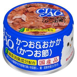 いなば CIAO(チャオ) ホワイティ かつお&おかか(かつお節) 85g 1箱24缶入り キャットフード CIAO チャオ 関東当日便|chanet
