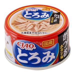 いなば CIAO(チャオ) とろみ ささみ・かつお ホタテ味 80g 1箱24缶入り キャットフード CIAO チャオ 関東当日便|chanet