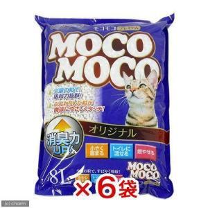 猫砂 クリーンミュウ モコモコオリジナル 8L 6袋入り 猫砂 紙 固まる 流せる 燃やせる 関東当日便|chanet