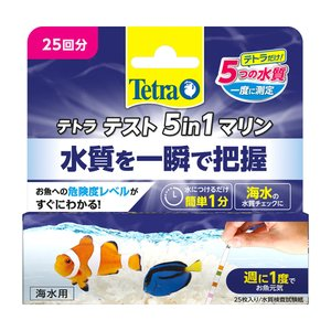メーカー:テトラ 品番:77626 海水の5つの水質を1度にチェックできる! 海水用試験紙です。試験...