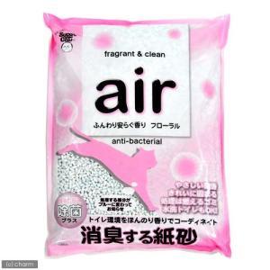 お一人様6点限り スーパーキャット air消臭する紙砂 フローラル 6L 猫砂 紙 固まる 流せる 燃やせる 関東当日便