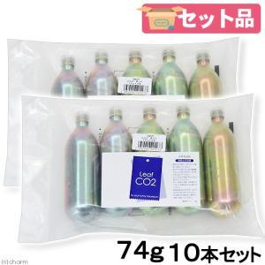 Leaf CO2 ボンベ 74g 10本セット Q10サポートエレメンツ30mL付き 炭酸ボンベ 汎用品 新瓶|チャーム charm PayPayモール店