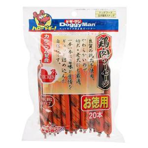 箱売り ドギーマン 鶏肉ソーセージ 20本入り 1箱24袋 犬 おやつ 関東当日便
