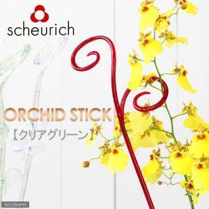 scheurich シューリッヒ オーキッドスティック クリアグリーン(植物用支柱) 関東当日便 chanet
