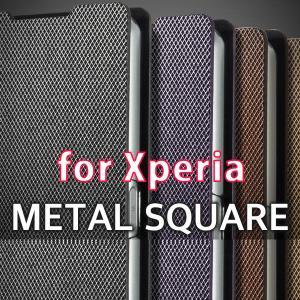 METAL SQUARE 手帳型 ケース Xperia XZ1 SO-01K SOV36 XZS SO-03J SOV35 XZ SO-01J SOV34 Premium SO-04J X performance SO-04H SOV33 Z5 Z4 Z3 カバー changing-my-life