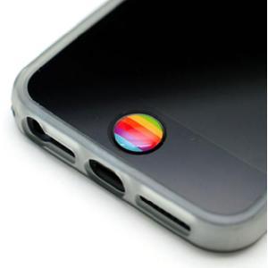 iPhone5S iPhoneSE ケース iPhone5 カバー  iPhone バンパー  ソフトケース アイフォン5C   5C 5  LIMS正規品 レインボー ホームボタン シール 2個入り|changing-my-life
