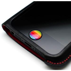 iPhone5S iPhoneSE ケース iPhone5 カバー  iPhone バンパー  ソフトケース アイフォン5C   5C 5  LIMS正規品 レインボー ホームボタン シール 2個入り|changing-my-life|02