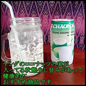 ココナッツジュース果肉入り ジュース ココナッツ 輸入食品 ココナッツドリンク タイ産|chankrung-store