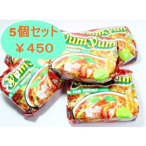 インスタントヌードル トムヤムシュリンプ味5pc セット|chankrung-store