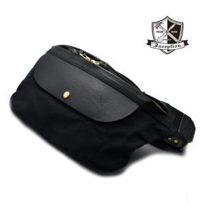 ■品名:ボディーバッグ  ■LOT:IPHB-01   ■表素材:8号帆布パラフィン加工、牛革   ...