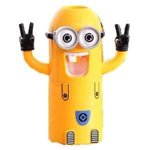 ミニオン 歯磨き粉 ディスペンサー キッズ歯ブラシホルター スタンド ミニオンステッカー(外箱ダメージある)|chaoyiliu
