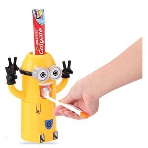 ミニオン 歯磨き粉 ディスペンサー キッズ歯ブラシホルター スタンド ミニオンステッカー(外箱ダメージある)|chaoyiliu|02