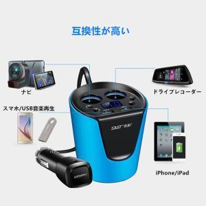 SAST シガーソケット カーチャージャー 12V-24V対応 USB 2ポート 車載充電器 iPhoneやiPadなど同時充電可能(ブルー) 【並行輸入品】|chaoyiliu|06