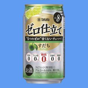 タカラ 果汁入り糖質ゼロチューハイ ゼロ仕立て すだち 350mlケース(24本入り) 【お取り寄せ商品】
