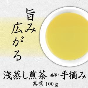 浅蒸し煎茶 品等:手摘み 茶葉100g 旨み広がる 若蒸し茶|chappaya-hamamatsu