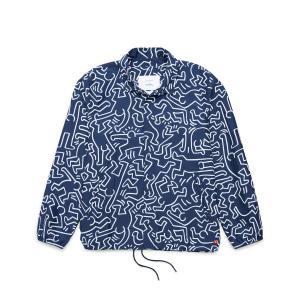 ハーシェル サプライ Herschel Supply Co ジャケット ヴォヤージュ コーチ ジャケット (Peacoat Keith Haring) 17FA-I chapter-ex