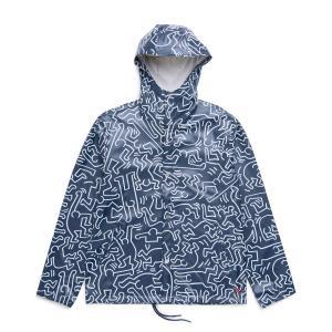 ハーシェル サプライ Herschel Supply Co ジャケット フォーキャスト フーデッド コーチ ジャケット (Peacoat Keith Haring) 17FA-I chapter-ex