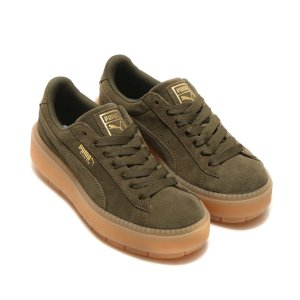 PUMA SUEDE PLATFORM TRACE WNS (OLIVE NIGHT) 17FA-I|chapter-ex