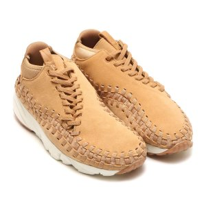 NIKE AIR FOOTSCAPE WOVEN CHUKKA (FLAX/FLAX-SAIL-GUM MED BROWN) 17HO-S|chapter-ex