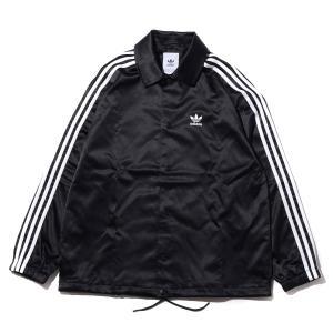 アディダス adidas ジャケット サテン コーチ ジャケット (BLACK) 19FA-S|chapter-ex