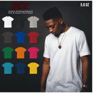 オーバーサイズ BIG 無地 半袖 Tシャツ ビックサイズ ACE 5.6oz (オンス)|chara-basket