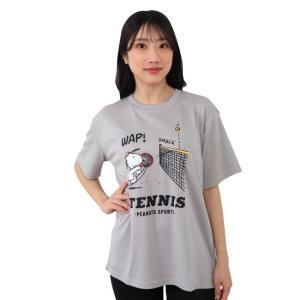 9/22 まで 在庫限り 決算セール スヌーピー スポーツ テニスドライ プリント 半袖 Tシャツ S M L|chara-basket