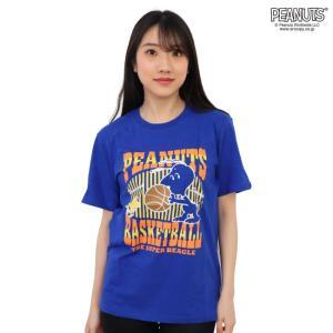 スヌーピー 半袖Tシャツ プリント バスケ キャラクターTシャツ S M L|chara-basket