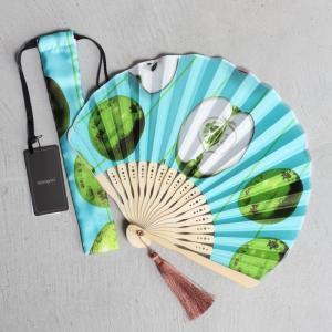 マニプリ 扇子 manipuri アップル柄 グリーン APPLE fun GREEN 2020春夏新作|charger