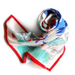 マニプリ スカーフ manipuri SILK SCARF BALLET RED 65×65 シルクスカーフ バレー柄 レッド 2019秋冬新作|charger