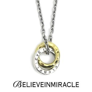 BELIEVEINMIRACLE,ビリーブインミラクル,W RING NECKLACE,ダブルリングネックレス,Silver925,Brass,通販取扱い|charger