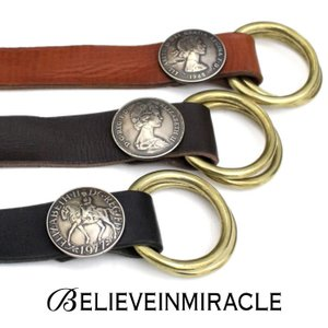 BELIEVEINMIRACLE,ビリーブインミラクル,DOUBLE RING BELT,ダブルリングベルト,Leather,レザーベルト(3色展開)通販,取扱い charger