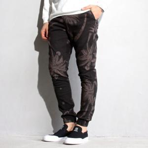 SALE 40%OFF ブルーイ パンツ BLUEY パームパターン イージーパンツ ブラック PALM PATTERN EASY PANTS BLACK 2019春夏新作|charger