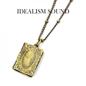 idealism sound ネックレス,イデアリズムサウンド ネックレス,idealism sound × Iroquois,アンティークBOOKモチーフネックレス,Brass,通販,取扱い|charger