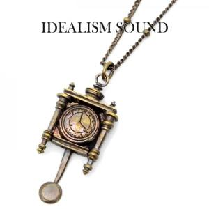 idealism sound ネックレス,イデアリズムサウンド ネックレス,idealism sound × Iroquois,アンティーク時計モチーフネックレス,Brass,通販,取扱い|charger