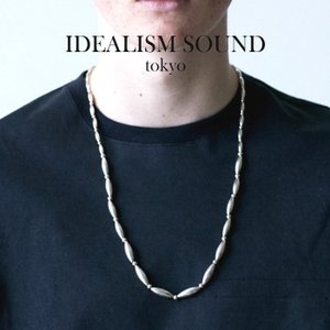 idealism sound イデアリズムサウンド  SILVER BEADS NECKLACE シルバー ビーズ ロング ネックレス|charger