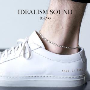 idealism sound イデアリズムサウンド  SILVER BEADS NARROW ANKLET シルバー ビーズ ナロー アンクレット|charger