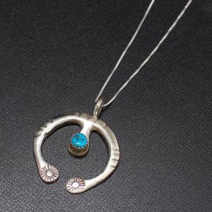 インディアンジュエリー Necklace シルバー チェーン ネックレス ターコイズ Silver|charger