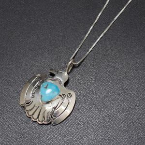 インディアンジュエリー Necklace シルバー チェーン イーグル ネックレス ターコイズ Silver|charger