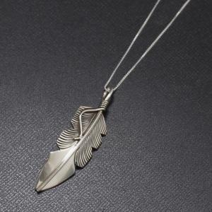 インディアンジュエリー Necklace シルバー チェーン スモールフェザー ネックレス Silver|charger
