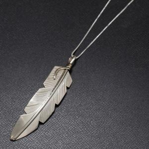 インディアンジュエリー Necklace シルバー チェーン ラージフェザー ネックレス Silver|charger