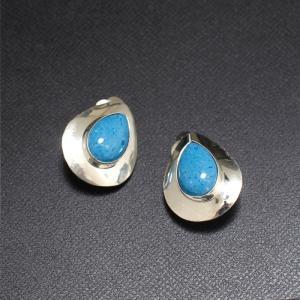 インディアンジュエリー earring シルバー デニムラピス ラピスラズリ イヤリング Silver|charger