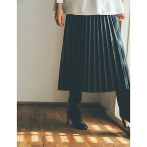 CLANE スカート クラネ アコーディオンプリーツレザースカート ACCORDION PLEAT LEATHER SKIRT ブラック BLACK 2020秋冬新作 charger
