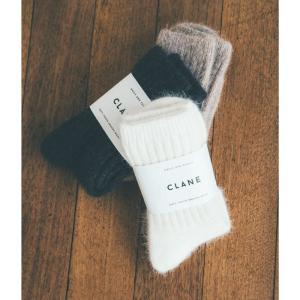 CLANE 靴下 クラネ ウールソックス WOOL SOCKS ブラック/ブラウン/ホワイト 3色展開 2020秋冬新作 charger