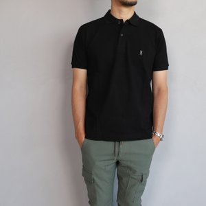 SALE 40%OFF マークゴンザレス ポロシャツ Mark Gonzales   ワンポイント刺繍 犬 ダルメシアン ブラック Polo BLACK 2019春夏新作|charger
