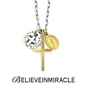 BELIEVEINMIRACLE,ビリーブインミラクル,MARIA W CROSS NECKLACE,マリアダブルクロスネックレス,Silver925,Brass,通販取扱い|charger