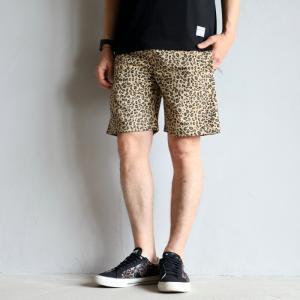COOKMAN ショーツ クックマン ショートシェフパンツ レオパード Short Chef Pants Leopard ベージュ Beige 2021春夏新作|charger