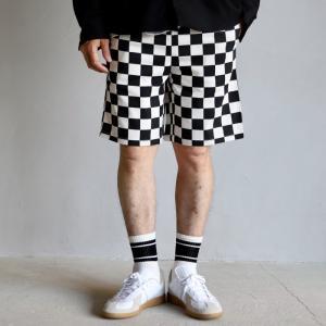 COOKMAN ショーツ クックマン ショートシェフパンツ チェッカー Short Chef Pants Checker ブラック Black 2021春夏新作|charger