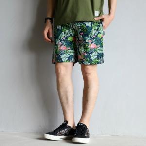 COOKMAN ショーツ クックマン ショートシェフパンツ トロピカル Short Chef Pants Tropical グリーン Green 2021春夏新作|charger