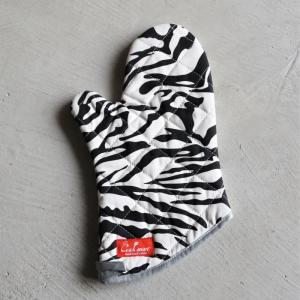 COOKMAN キッチン ミトン おしゃれ クックマン ミトンゼブラ Mitten Zebra 1PCS ホワイト White 2021春夏新作 charger