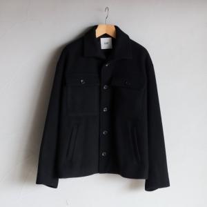 SALE 30%OFF CLANE HOMME アウター クラネオム ウールジャケット WOOL BAL COLLAR JACKET ブラック BLACK 2020秋冬新作|charger